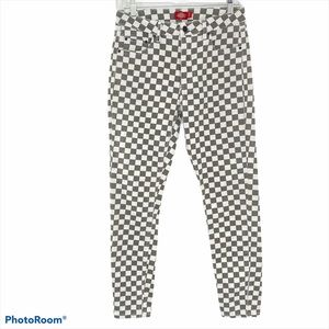 DICKIES   Checkered Skinny Ankle Jeans Pants